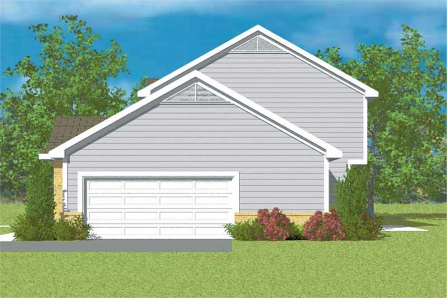 Home Plan Right Elevation of this 3-Bedroom,2299 Sq Ft Plan -137-1218