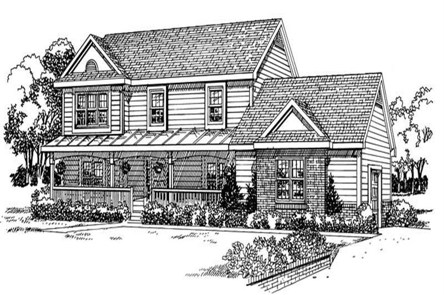 Home Plan Front Elevation of this 3-Bedroom,2299 Sq Ft Plan -137-1218