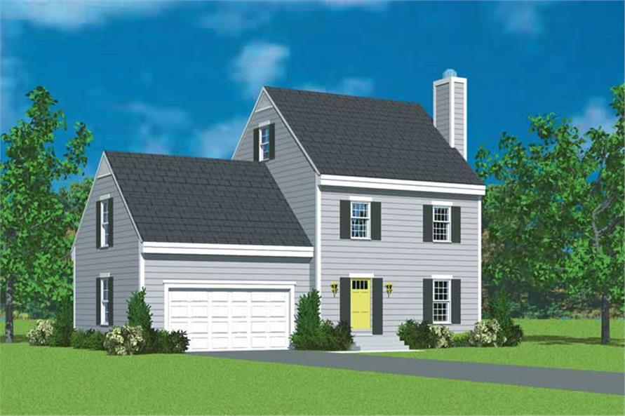 3-Bedroom, 1418 Sq Ft Small House Plans - 137-1219 - Front Exterior