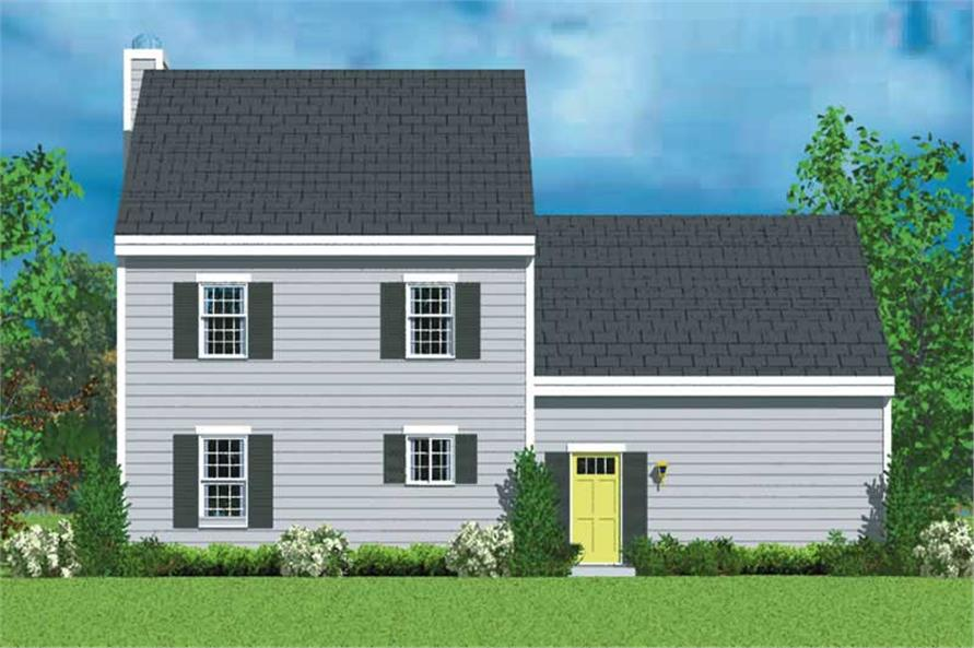 Home Plan Rear Elevation of this 3-Bedroom,1418 Sq Ft Plan -137-1219