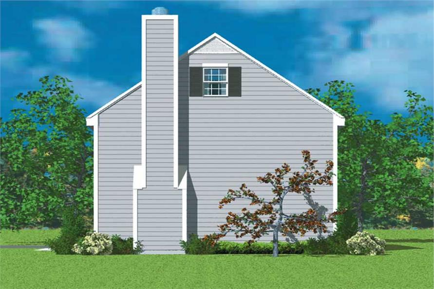 Home Plan Right Elevation of this 3-Bedroom,1418 Sq Ft Plan -137-1219