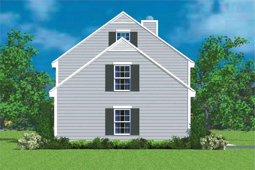 Home Plan Left Elevation of this 3-Bedroom,1418 Sq Ft Plan -137-1219