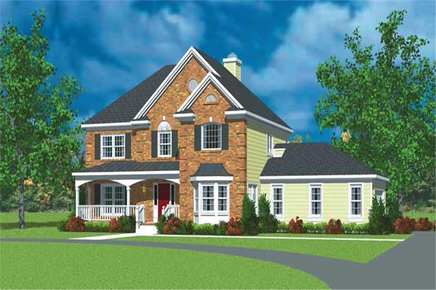 3-Bedroom, 2405 Sq Ft Country Home Plan - 137-1225 - Main Exterior