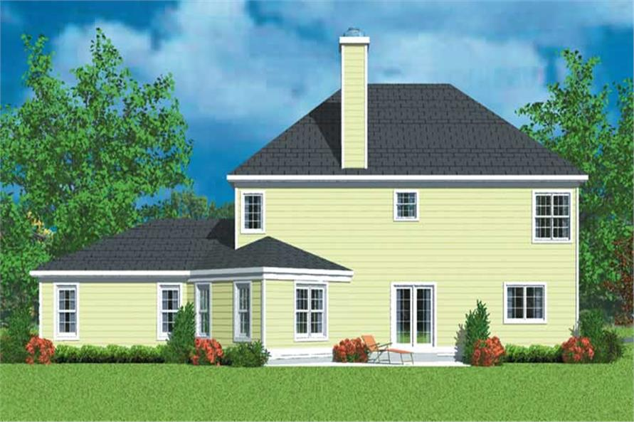 Home Plan Rear Elevation of this 3-Bedroom,2405 Sq Ft Plan -137-1225