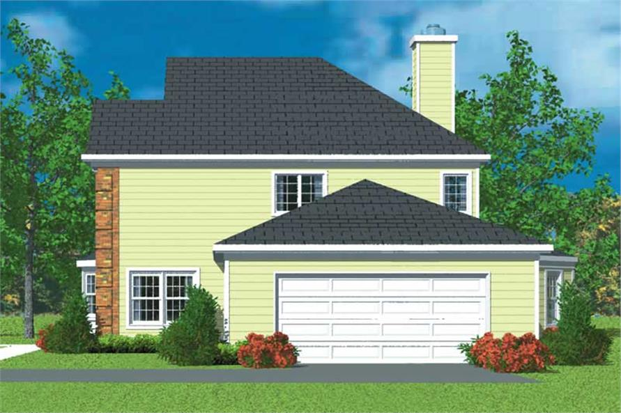 Home Plan Right Elevation of this 3-Bedroom,2405 Sq Ft Plan -137-1225