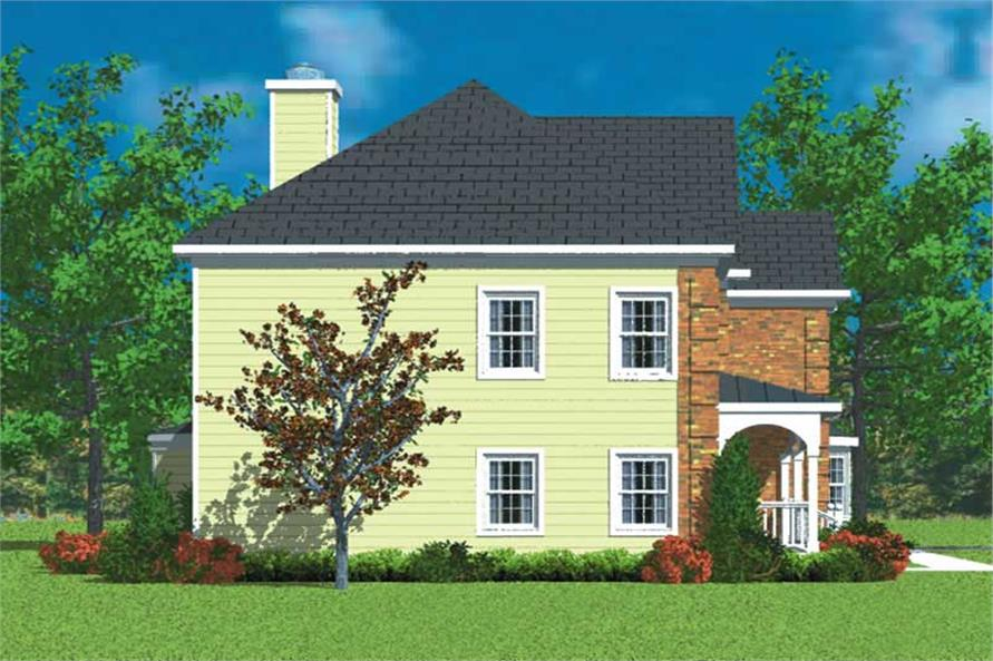 Home Plan Left Elevation of this 3-Bedroom,2405 Sq Ft Plan -137-1225