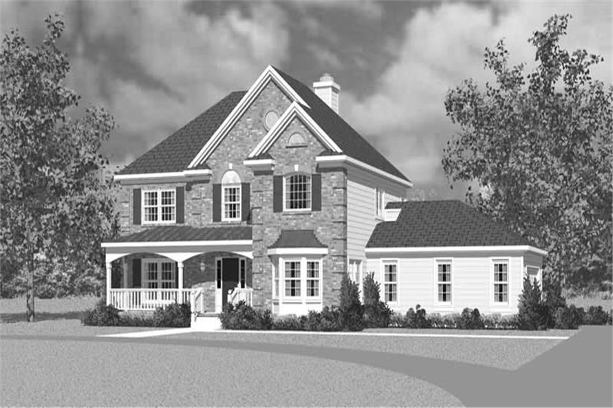 Home Plan Front Elevation of this 3-Bedroom,2405 Sq Ft Plan -137-1225