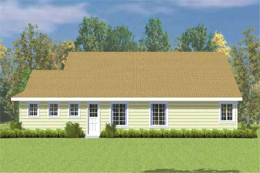 Home Plan Right Elevation of this 3-Bedroom,1676 Sq Ft Plan -137-1227
