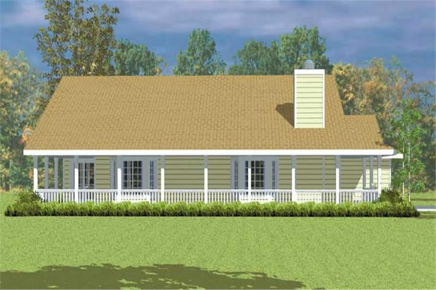 Home Plan Left Elevation of this 3-Bedroom,1676 Sq Ft Plan -137-1227