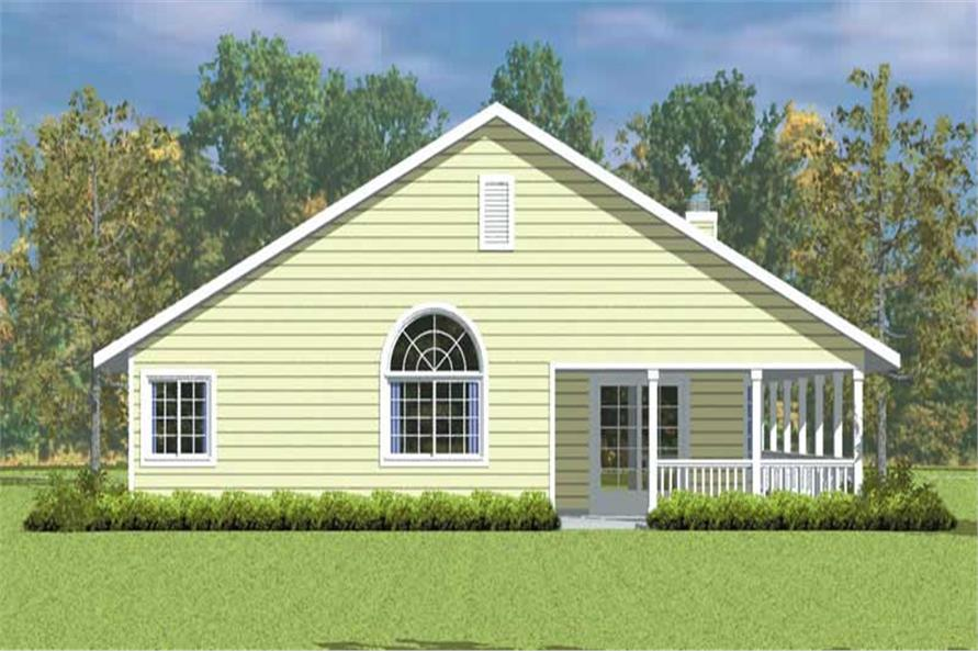 Home Plan Rear Elevation of this 3-Bedroom,1676 Sq Ft Plan -137-1227