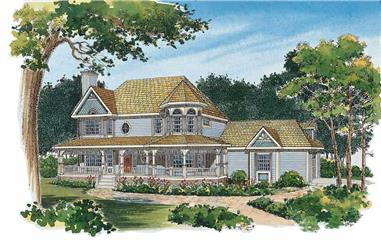 4-Bedroom, 2174 Sq Ft Victorian House Plan - 137-1229 - Front Exterior