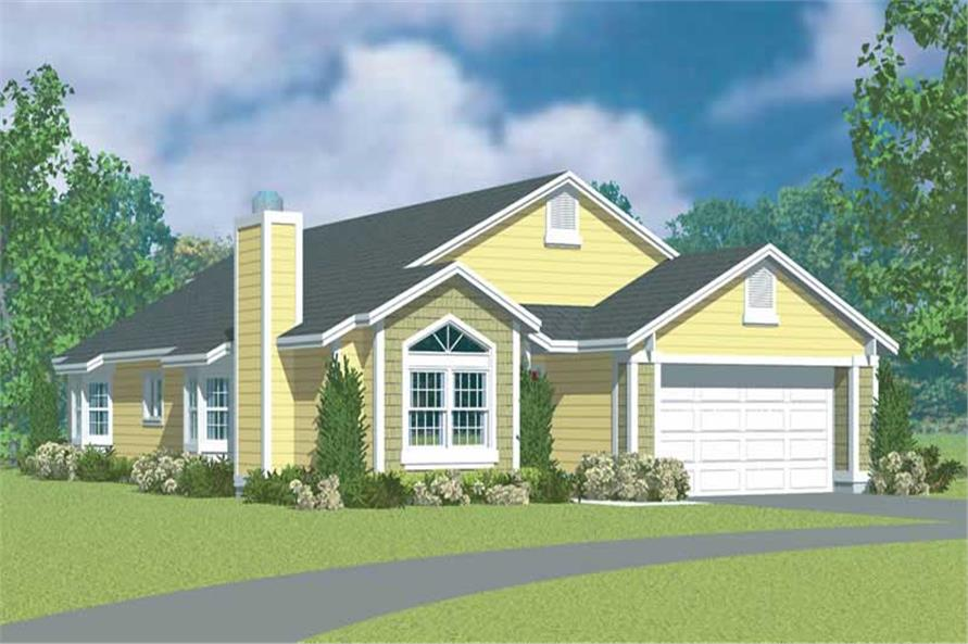 3-Bedroom, 1952 Sq Ft Country House Plan - 137-1231 - Front Exterior