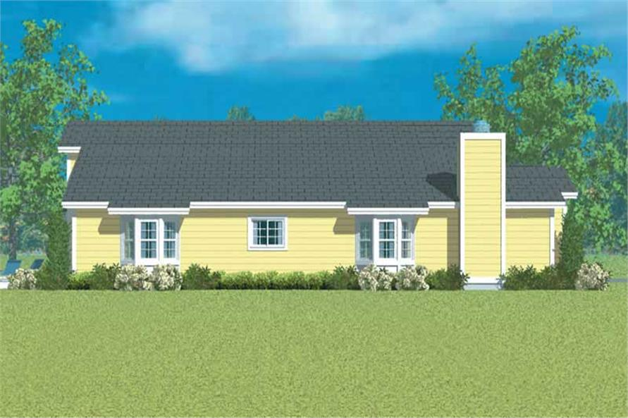 Home Plan Left Elevation of this 3-Bedroom,1952 Sq Ft Plan -137-1231