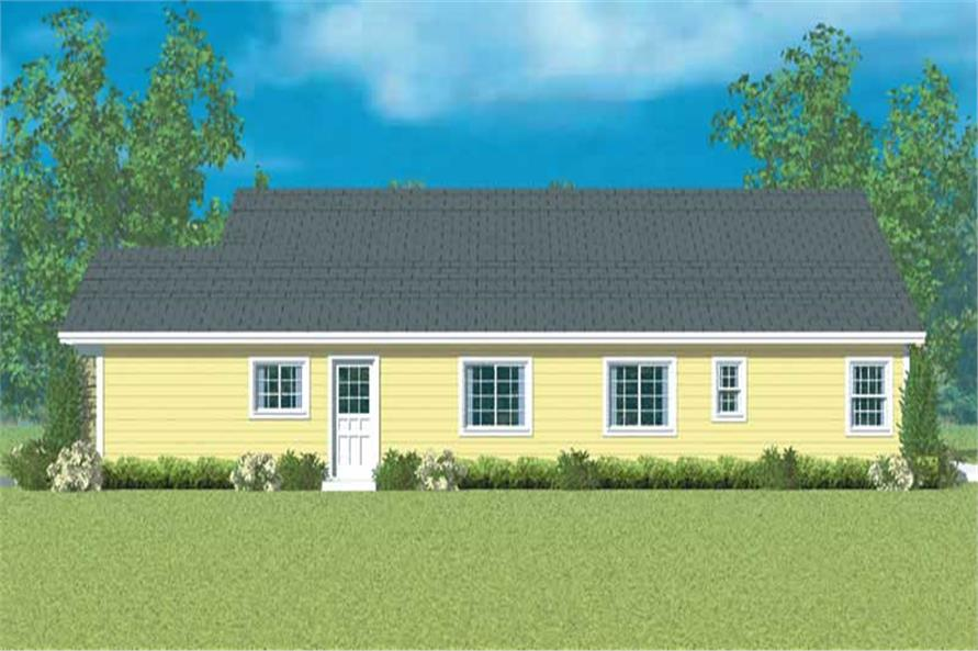 Home Plan Right Elevation of this 3-Bedroom,1952 Sq Ft Plan -137-1231