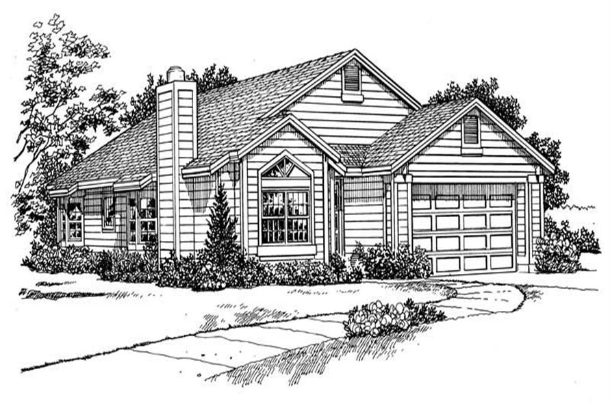 Home Plan Front Elevation of this 3-Bedroom,1952 Sq Ft Plan -137-1231