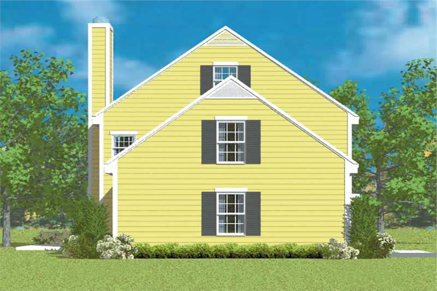 Home Plan Left Elevation of this 3-Bedroom,1497 Sq Ft Plan -137-1232