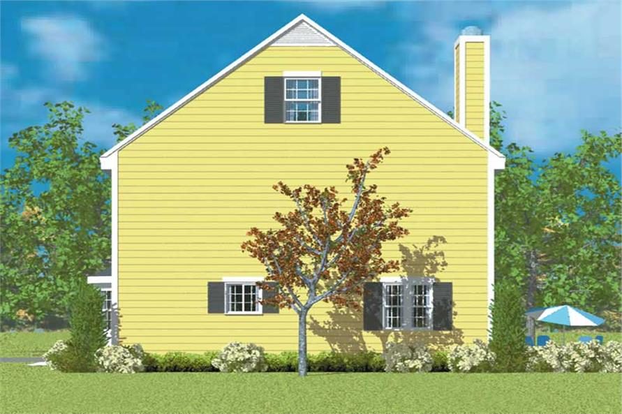 Home Plan Right Elevation of this 3-Bedroom,1497 Sq Ft Plan -137-1232