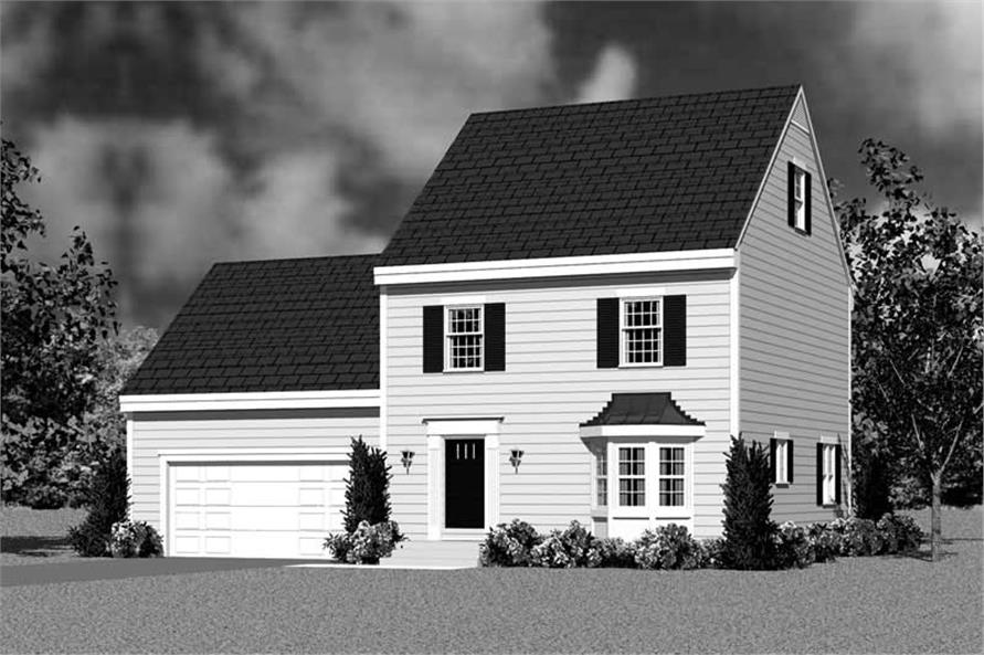 Home Plan Front Elevation of this 3-Bedroom,1497 Sq Ft Plan -137-1232