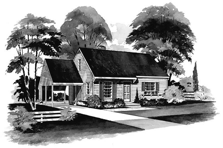 4-Bedroom, 1200 Sq Ft Southern House Plan - 137-1233 - Front Exterior