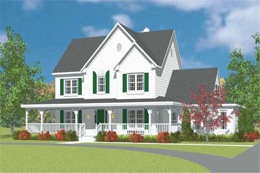 4-Bedroom, 2290 Sq Ft Farmhouse Home Plan - 137-1236 - Main Exterior