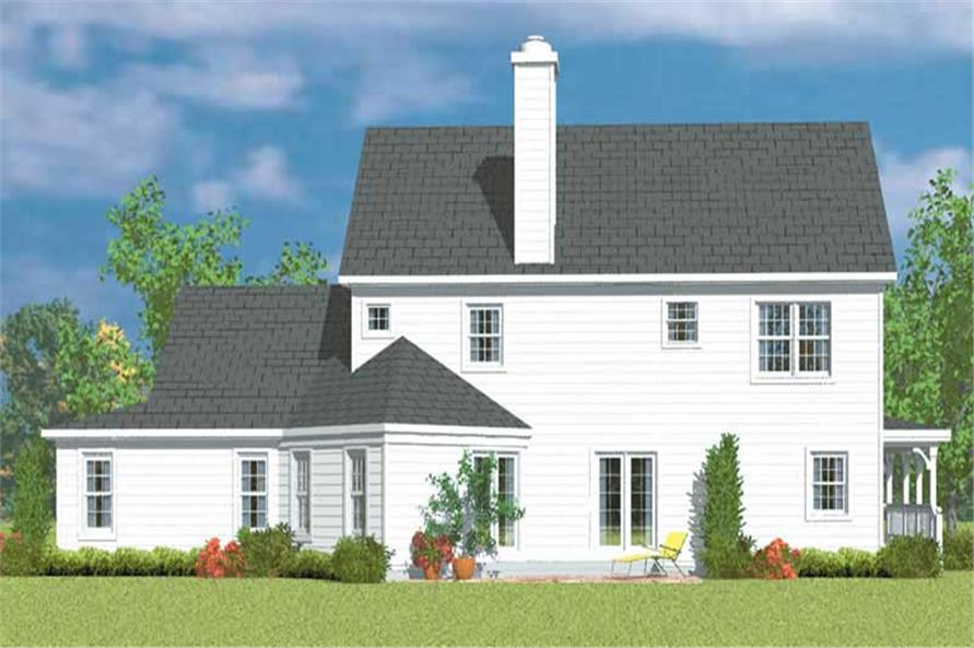 Home Plan Rear Elevation of this 4-Bedroom,2290 Sq Ft Plan -137-1236