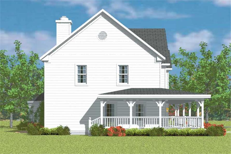 Home Plan Left Elevation of this 4-Bedroom,2290 Sq Ft Plan -137-1236