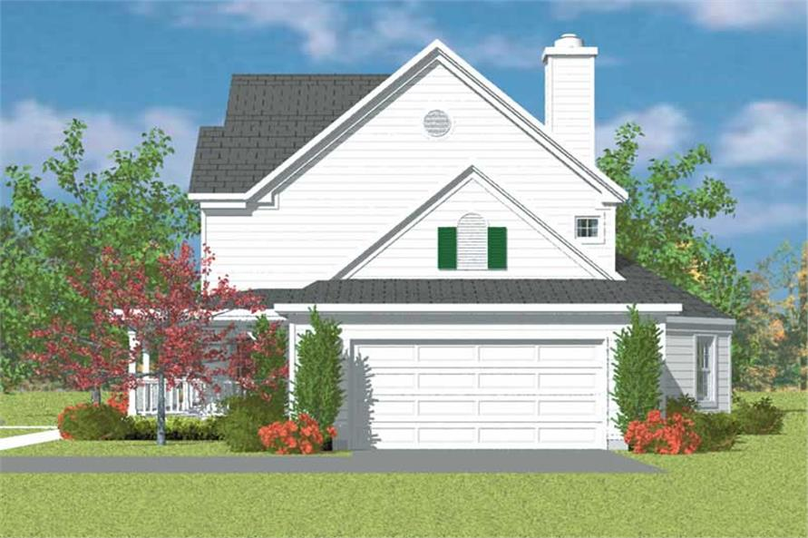 Home Plan Right Elevation of this 4-Bedroom,2290 Sq Ft Plan -137-1236