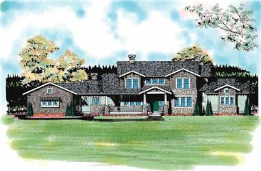 4-Bedroom, 4167 Sq Ft Craftsman Home Plan - 137-1237 - Main Exterior