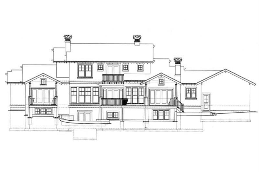 Home Plan Rear Elevation of this 4-Bedroom,4167 Sq Ft Plan -137-1237
