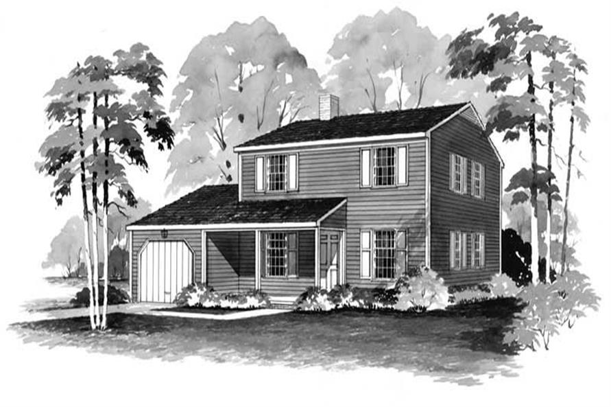 4-Bedroom, 1456 Sq Ft Country House Plan - 137-1238 - Front Exterior