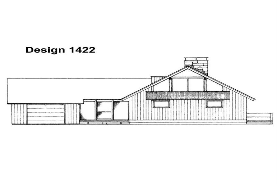 Home Plan Rear Elevation of this 4-Bedroom,1632 Sq Ft Plan -137-1240