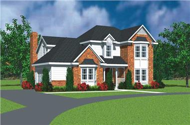 3-Bedroom, 2271 Sq Ft Country Home Plan - 137-1242 - Main Exterior