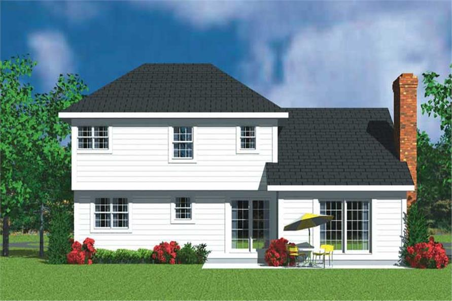 Home Plan Rear Elevation of this 3-Bedroom,2271 Sq Ft Plan -137-1242