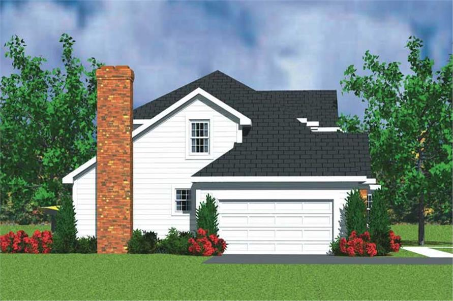 Home Plan Left Elevation of this 3-Bedroom,2271 Sq Ft Plan -137-1242