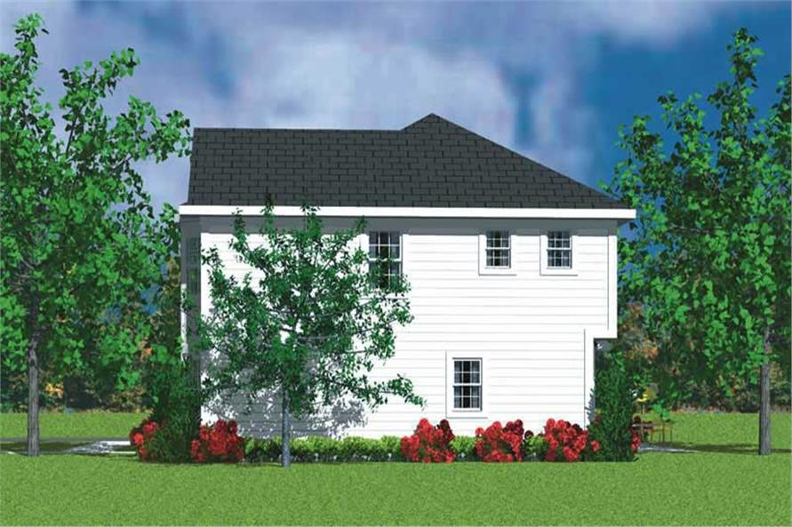 Home Plan Right Elevation of this 3-Bedroom,2271 Sq Ft Plan -137-1242