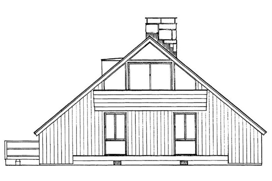 Home Plan Rear Elevation of this 4-Bedroom,1632 Sq Ft Plan -137-1243
