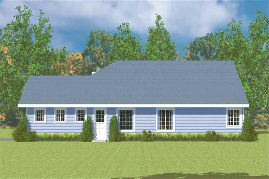 Home Plan Right Elevation of this 3-Bedroom,1676 Sq Ft Plan -137-1244