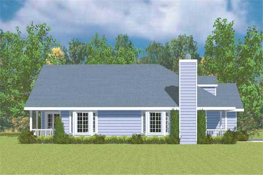 Home Plan Left Elevation of this 3-Bedroom,1676 Sq Ft Plan -137-1244