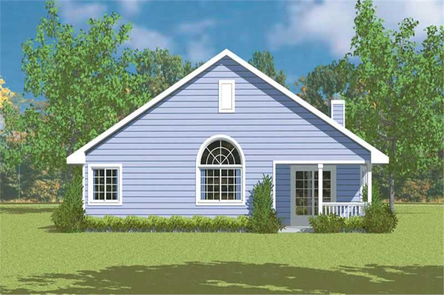 Home Plan Rear Elevation of this 3-Bedroom,1676 Sq Ft Plan -137-1244