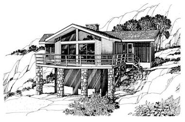 4-Bedroom, 1420 Sq Ft Contemporary House Plan - 137-1250 - Front Exterior