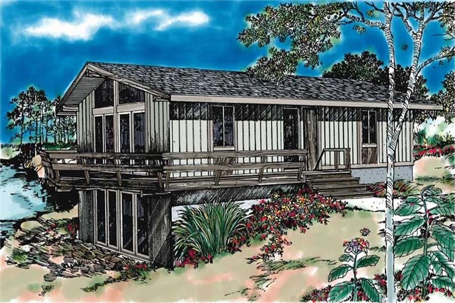 4-Bedroom, 1320 Sq Ft Contemporary Home Plan - 137-1251 - Main Exterior