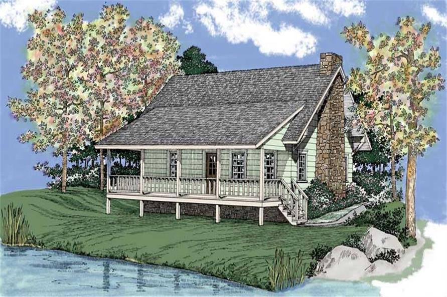 2-Bedroom, 1309 Sq Ft Country Home Plan - 137-1252 - Main Exterior
