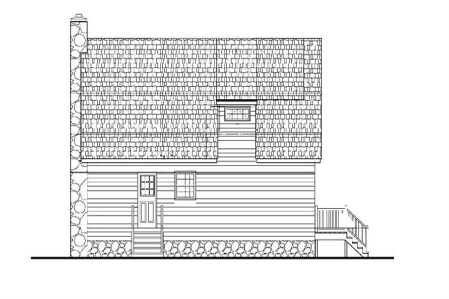 Home Plan Rear Elevation of this 2-Bedroom,1309 Sq Ft Plan -137-1252