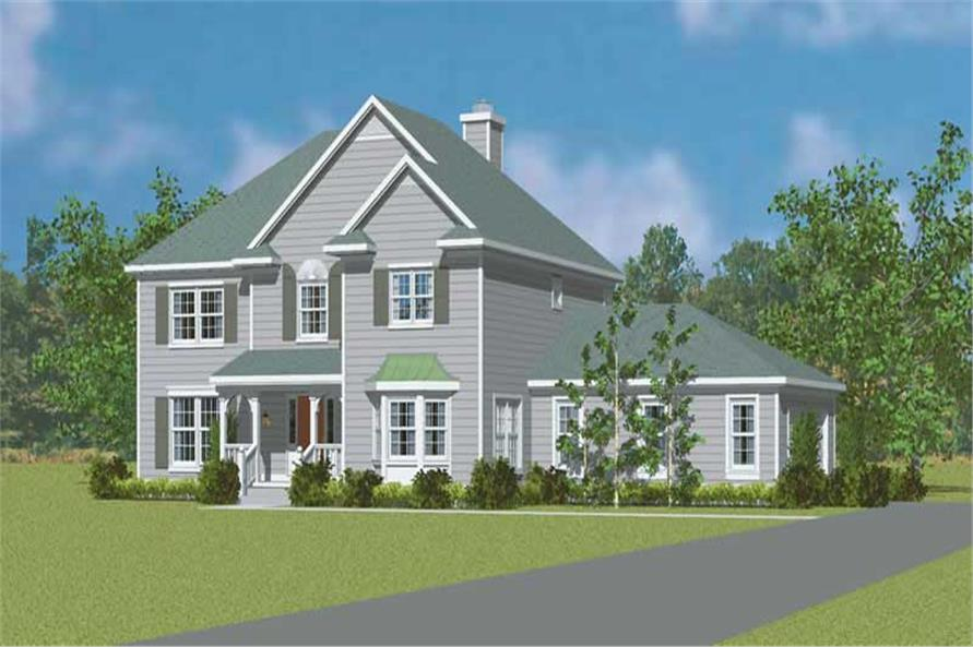 4-Bedroom, 2344 Sq Ft Country House Plan - 137-1256 - Front Exterior