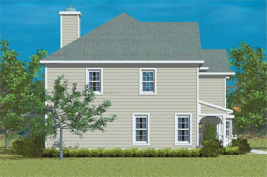Home Plan Left Elevation of this 4-Bedroom,2344 Sq Ft Plan -137-1256