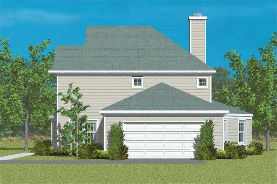 Home Plan Right Elevation of this 4-Bedroom,2344 Sq Ft Plan -137-1256