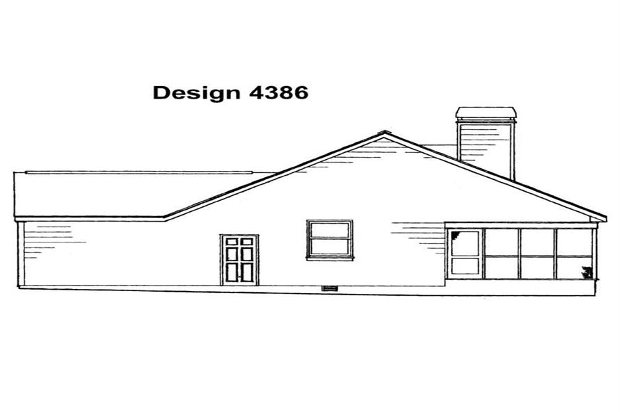 Home Plan Rear Elevation of this 3-Bedroom,1811 Sq Ft Plan -137-1259