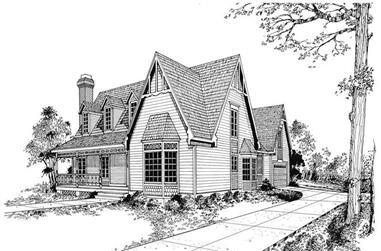 3-Bedroom, 2299 Sq Ft Victorian Home Plan - 137-1261 - Main Exterior