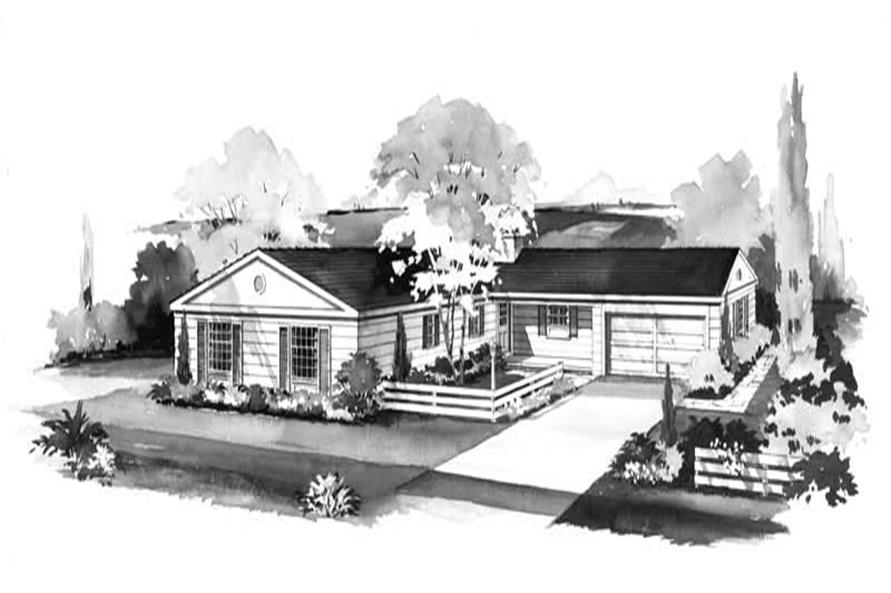4-Bedroom, 1620 Sq Ft Ranch Home Plan - 137-1264 - Main Exterior