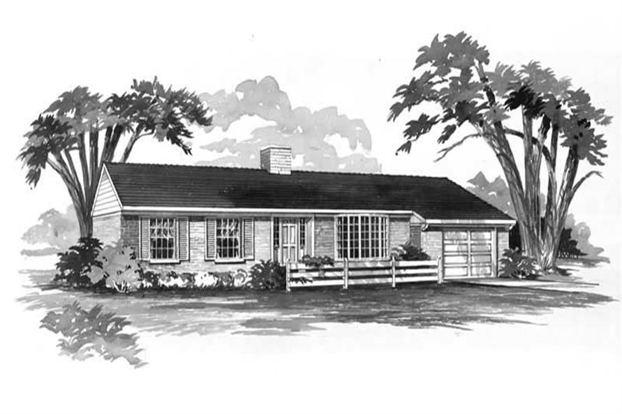 Main image for house plan # 17259